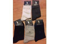 Ralph Lauren x5 socks different colours