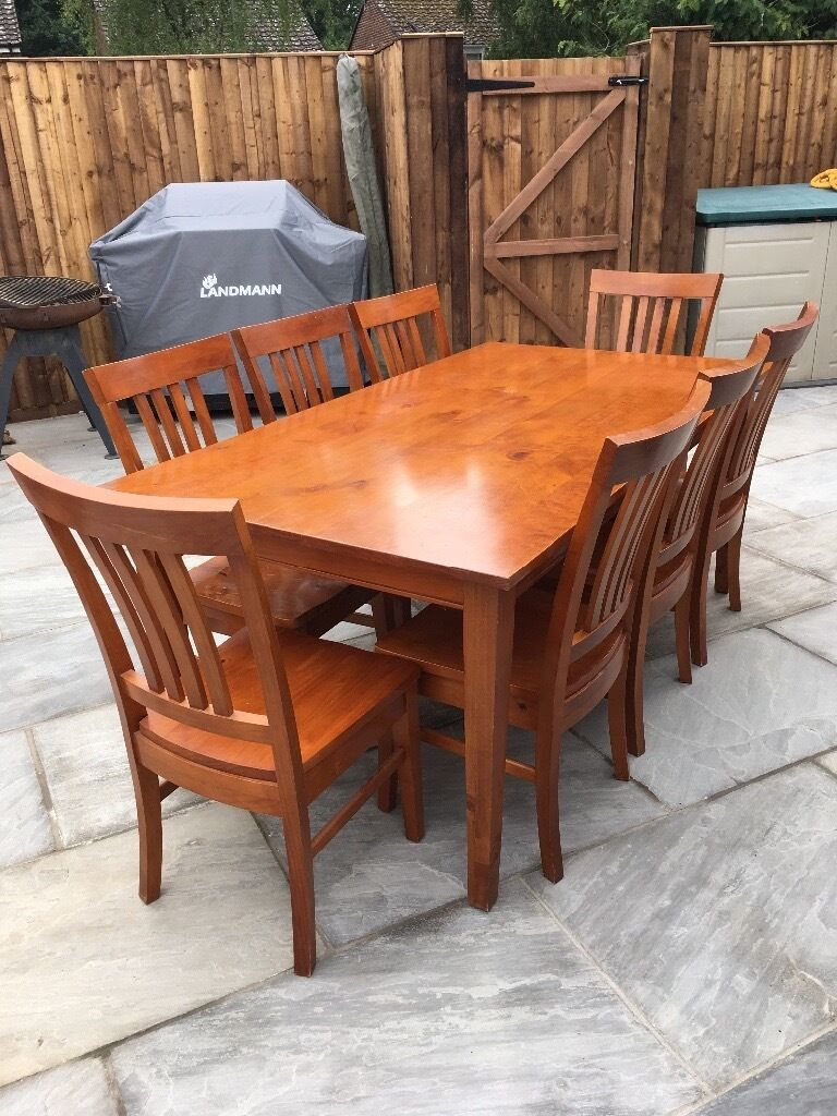 Teak extension dining table in excellent condition very clean and - Dining Table 8 Chairs Dark Teak Effect Good Condition 40 No Offers