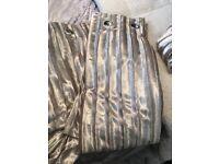 Next gold crushed velvet curtains