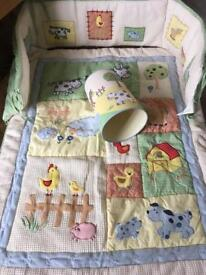 Nursery cot bed set