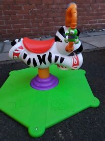 Excellent condition. Fisher Price - Bounce and Spin Zebra. Absolute Bargain! £22.50