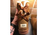 Ladies UGG Boots Size 5 Mid Height Camel Colour New with Box