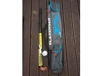 Slazenger hockey stick (mega Eclipse), Slazenger bag and practise ball -