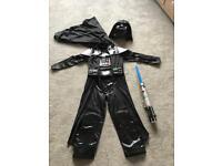 Star Wars Darth Vader Disney Costume Age 4