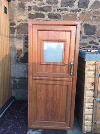 Upvc oak stable door