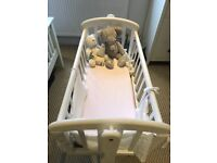 Beautiful white wooden John Lewis Anna crib for sale - as new