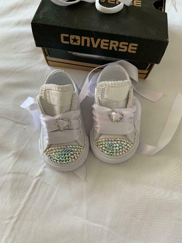 042abd132226 Brand new infant size 3 sparkly converse