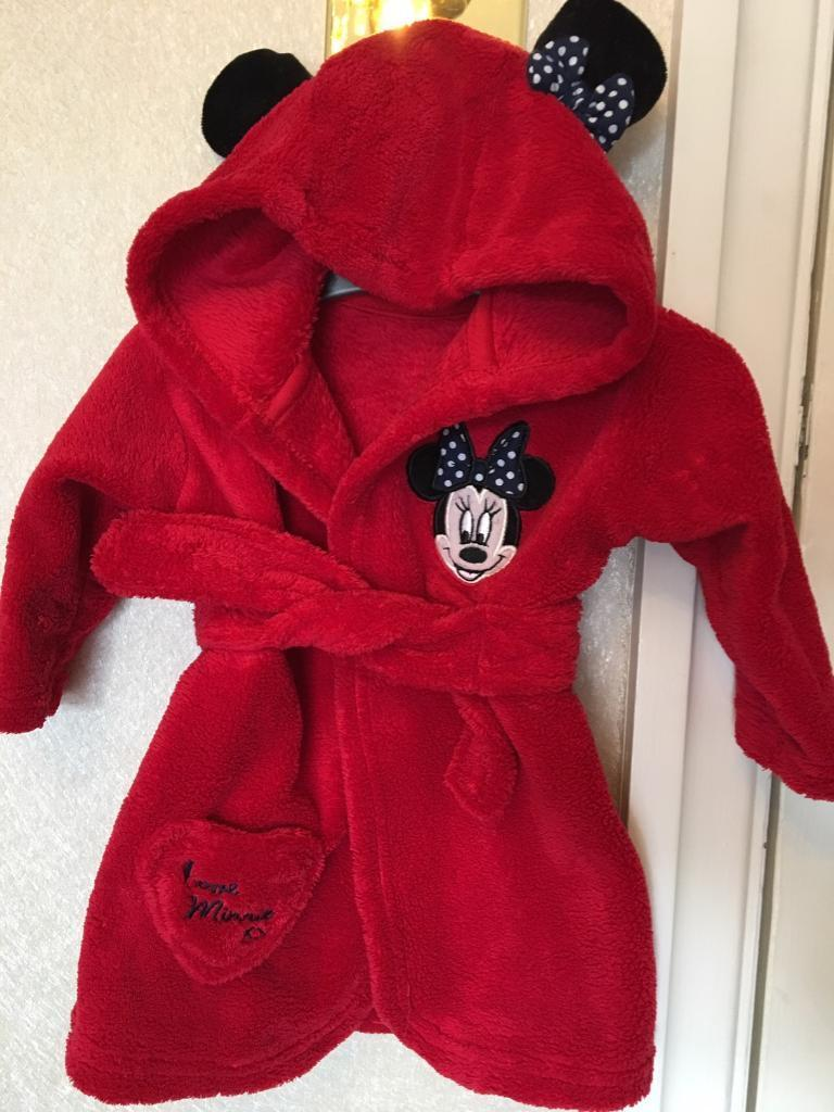 Minnie Mouse baby dressing gown 0-6 months