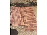 FREE: 2 X NEW LINO OFFCUTS : Wood / laminate effect