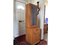 Ercol wall display unit / drinks cabinet