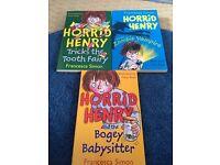 Horrid Henry books set of 3