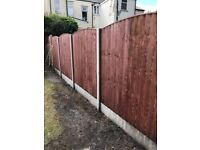 Vertical Fence Panels Treatment Dipped Heavy Duty