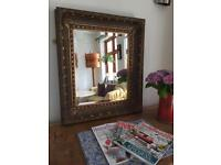 Wall hung mirror excellant quality ornate bevelled antique style