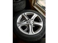"2015 17"" Audi A4 Technik alloys with Tyres"