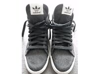 Adidas black trainers, size 5
