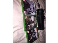 Xbox One Kinect sensor and 3 games