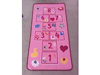 Pink washable hopscotch number playmat
