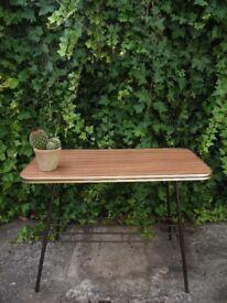 Vintage Mid Century Teak Formica 2 Tier Atomic Side Coffee Table Retro 60's 70's
