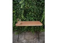 Vintage Mid Century Teak Formica 2 Tier Atomic Side Coffee Table Retro 60's 70's