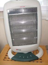 1200w Halogen heater with three heat settings