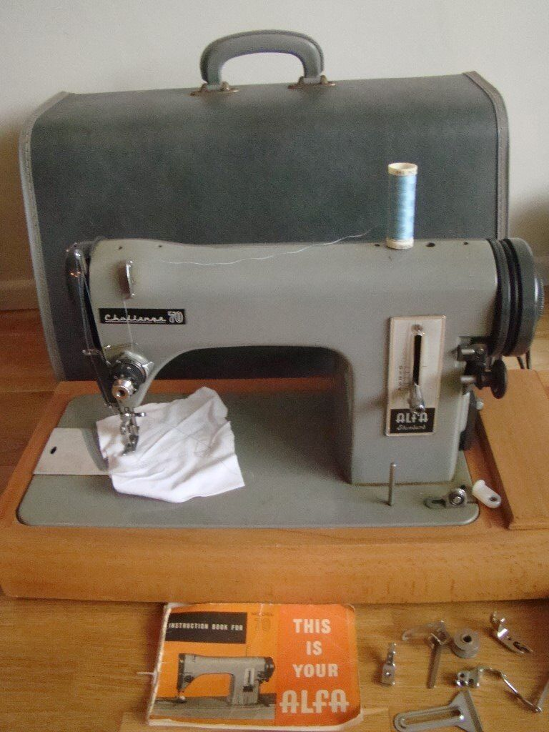 Vintage Alfa Electric Sewing Machine Carry Case Instructions