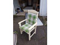 Set of 4 Garden/Kitchen Chairs in Cream