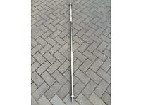 6FT SOLID CAST IRON CHROME BAR