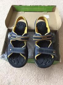 Boys Timberland navy open sandal