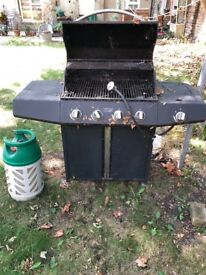 Large Gas Barbeque x 4 Grills+Hob