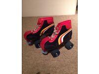 VIC Vintage Retro Roller Skates Quads Used Adult UK Size 5