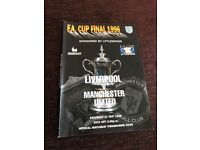Manchester United vs Liverpool 1997 FA Cup final programme