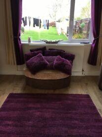 Large rug 2x curtains an cushions