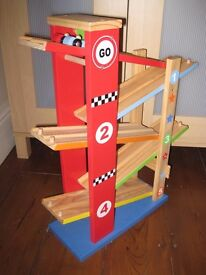 wooden toy car ramp racer 'george home wooden ramp racer'