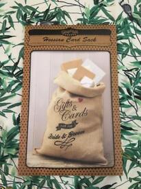 Ginger Ray Wedding Card / Gift Sack - Brand New