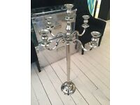 Large round base candelabra