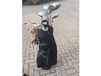 Mitsushba Jr clubs with bag and accessories