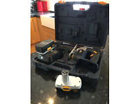 18 Volt Twin Pack = Circular & Jigsaw, 4 Battery's, 2 Chargers, 2 Cases