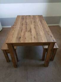 Next 'Bronx' dining table & benches