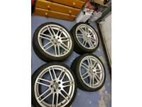 Audi vw rs4 alloy wheels pcd 5x112 19 inch