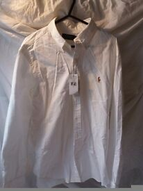 Mens white ralph lauren shirt