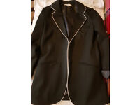 MANGO Women's Black Jacket Trims Blazer - NEW down from £43