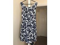 Superdry Navy/White Floral Dress
