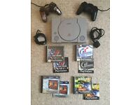 Sony PS1 Console + 4 Classic PS1 Games + 2 Controllers - Full Working Order
