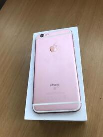 iPhone 6s 64gb Rose Gold unlocked excellent condition boxed
