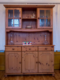 Solid Pine Welsh Dresser / Sideboard- like new.