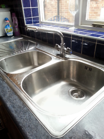 franke double sink with mixer taps