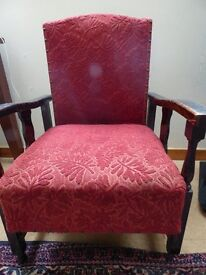 small antique reclining chair, sturdy and well made