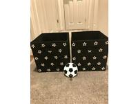 Football Storage Boxes (x6) + Coat Hook