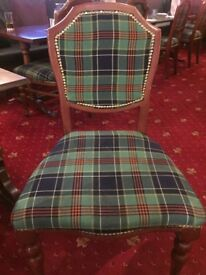 30 Tartan chairs for sale. Used in a restaurant environment previously.