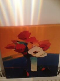 Small canvas painting